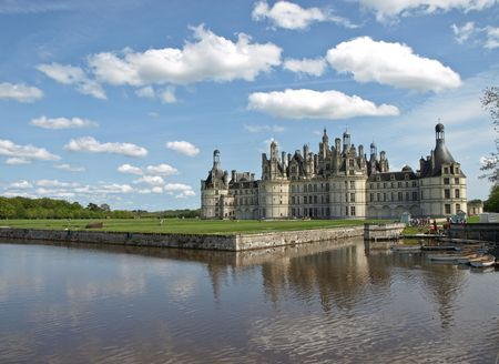 Majestic king castle Chambord in France Stock Photo