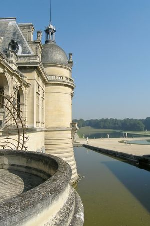 chantilly: Water dike in Chateau de Chantilly