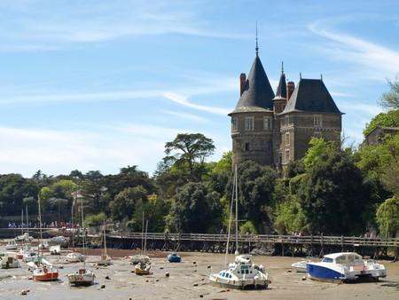 Old Medieval castle near ocean in France