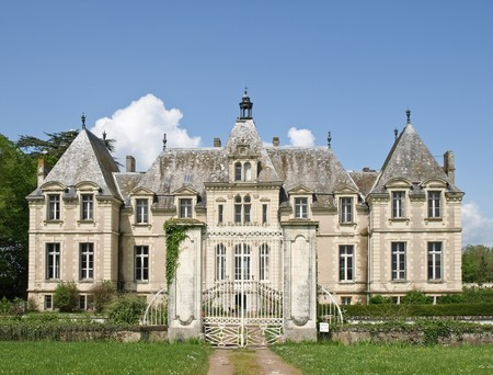 loire: Classic french castle in Loire valley Stock Photo