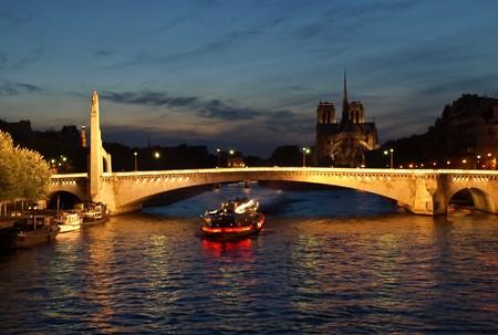 Night Paris view Standard-Bild