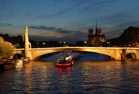 Night Paris view Stock Photo