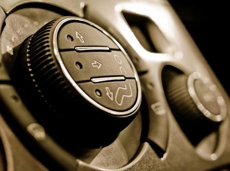 Auto climate control panel Standard-Bild