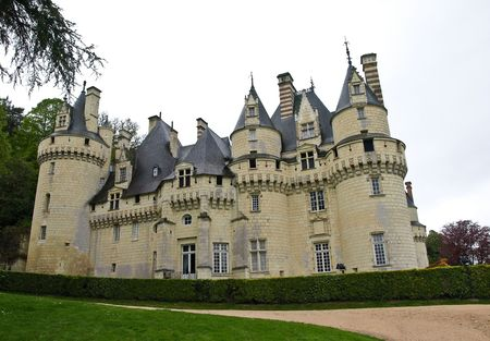 loire: Castle Usse in Loire valley, France