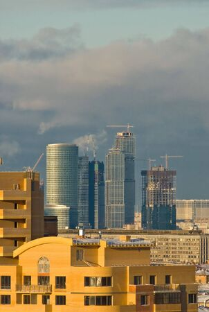 New skyscrapers in Moscow photo