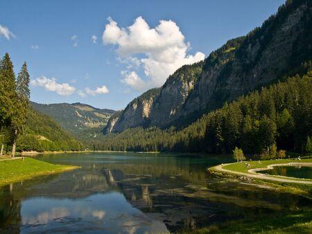 Mountain lake near Thonon. France.