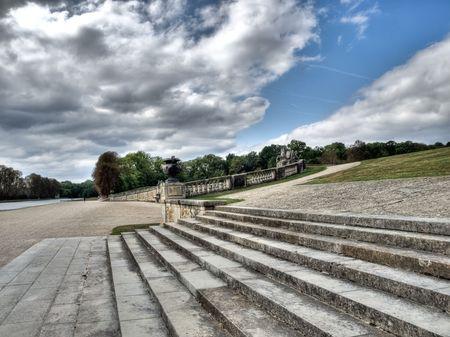vaux: Staistaircase in Vaux le Vicomte castle park