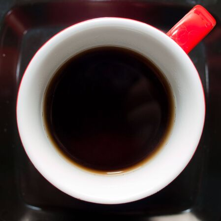 vivacity: Red cup of tea Stock Photo