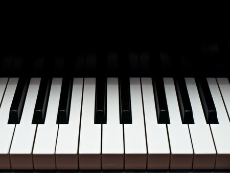 Grand piano music keyboard Stock Photo