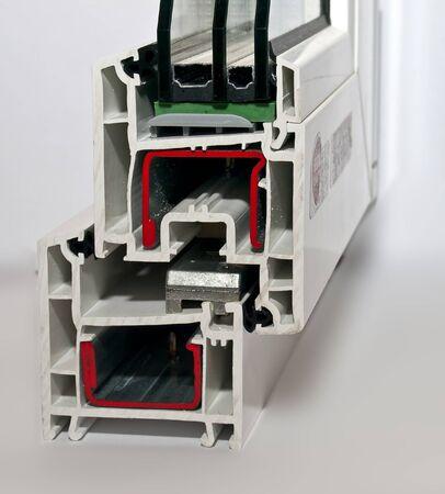 PVC profile system foe windows manufacturing photo