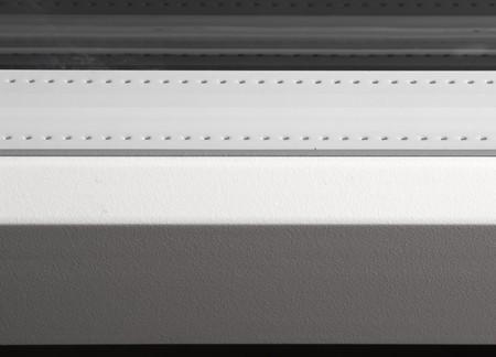fiberglass: Unidad de vidrio con blanco espaciador coloreada en marco de fibra de vidrio