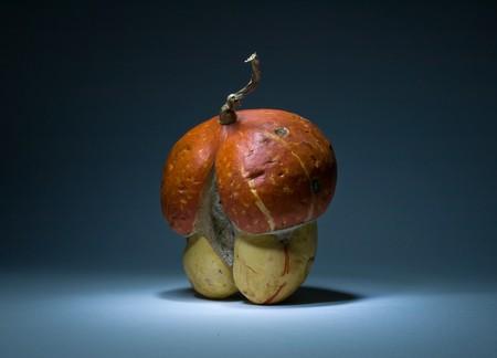 Mushroom style orange pumpkin photo