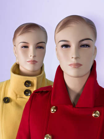 Two female mannequin in shop photo