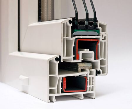 PVC profile system for windows manufacturing