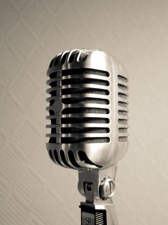 Retro microphone view Stock Photo - 8563801