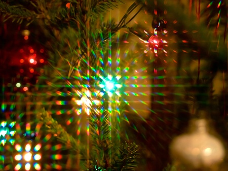 Colorful beams of xmas lights Stock Photo - 8563800
