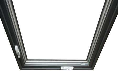 fiberglass: English fiberglass window with  external opening Stock Photo