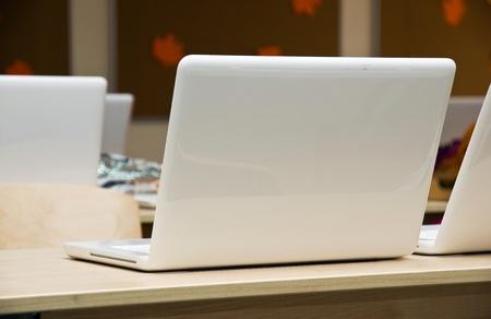 schoolroom: Modern school classroom with laptops