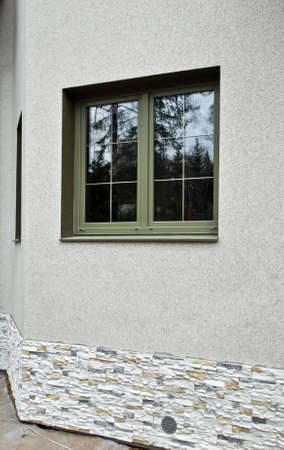 Green fiberglass windows photo