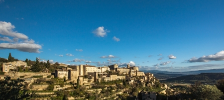 gordes: Village Gordes on the top of hill. Provence. France. Stock Photo