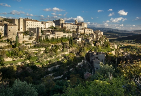 Village Gordes on the top of hill. Provence. France. photo