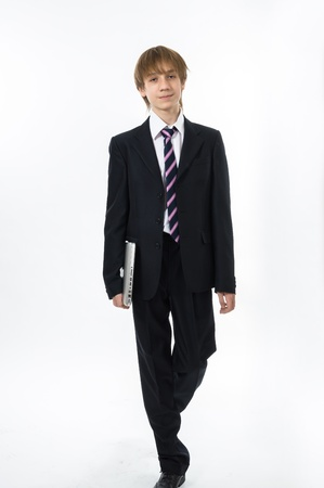 presentability: Office style showing by young teenage boy