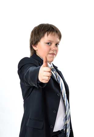 Office style dressed young boy isolated on white Stock Photo - 18381820