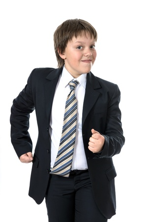 Office style dressed young boy isolated on white Stock Photo - 18381818