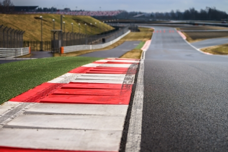 Race way track line for formula competition Stock Photo