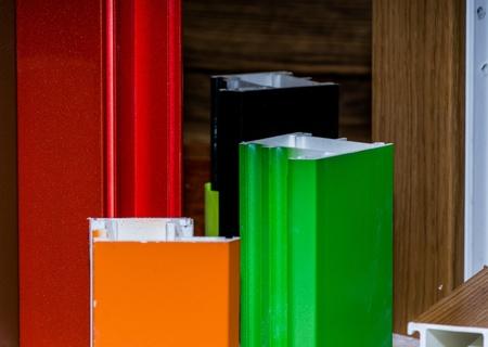 fibreglass: Fibra de vidrio colorised muestras de perfil para ventanas y puertas de fabricaci?n