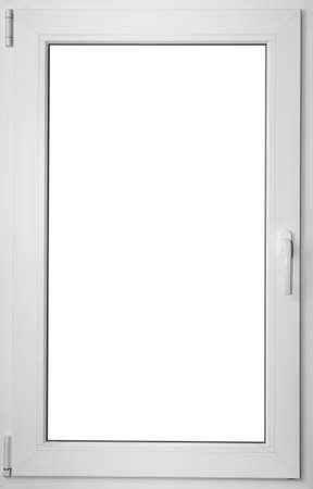 fibreglass: Coloreada en la ventana de fibra de vidrio blanca con la manija, el dise�o de interiores Foto de archivo