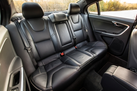 Black color skin luxury town car passengers interior
