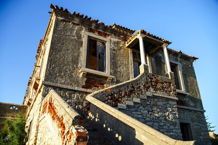 leaved: Ruins of houses leaved by owners. Portugal.