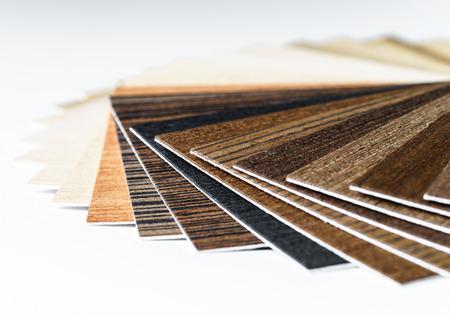 Dunne houten monsters schoof. Design interieur industrie. Stockfoto