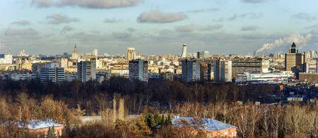 Mosc� opini�n del p�jaro-mosca. Panorama desde los rascacielos. Rusia. photo