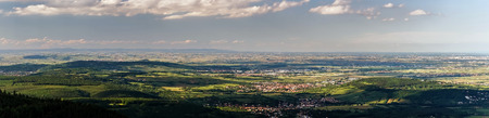 Bird-fly Alsace view from Mont Sainte-Odile abbey photo