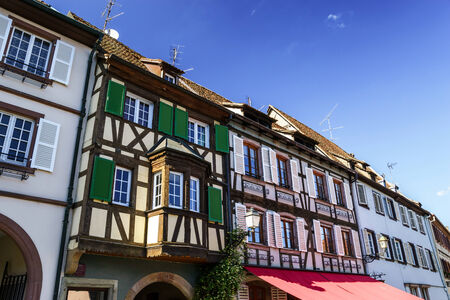 Renovated village house in small Alsace country place Stock Photo - 28643796