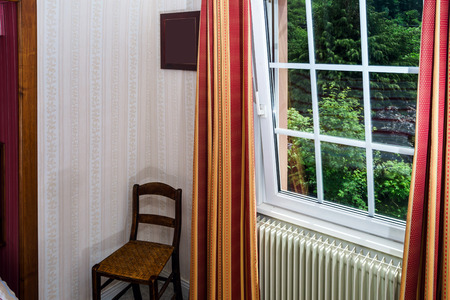 Renovated pvc windows in classic village house, Alsace photo