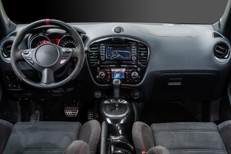 Modern luxury sport car dashboard, salon interior