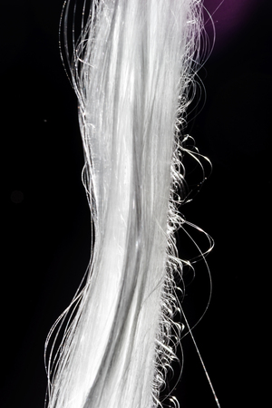 roving: Glass roving fibre for pultrision process Stock Photo