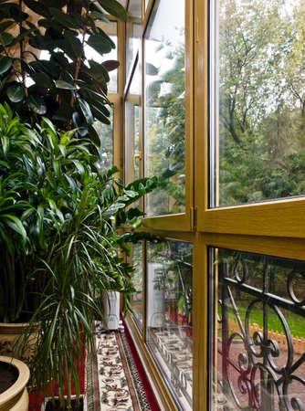 glazing: New fiberglass balcony glazing in city house, Moscow