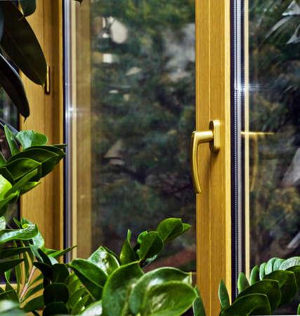 New fiberglass balcony glazing in city house, Moscow photo