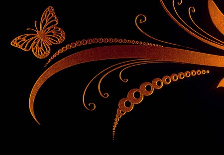 scribe: Highlighted laser engraving on glass surface, abstract pattern, design concept