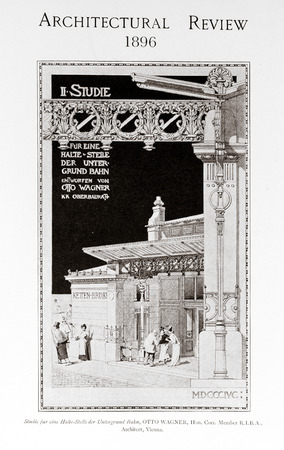 magazin: Old photo in Academy Architecture magazin, 1896, page scan. Editorial use. Editorial