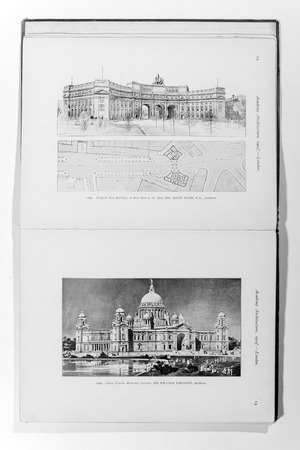 magazin: Old photo in Academy Architecture magazin, 1905, page scan. Editorial use. Editorial
