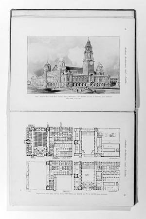 lithography: Old photo in Academy Architecture magazin, 1905, page scan. Editorial use. Editorial
