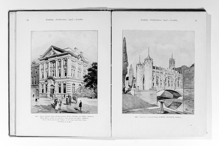 Old photo in Academy Architecture magazin, 1905, page scan. Editorial use. Editorial