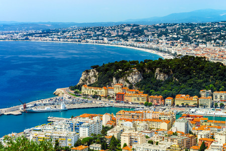 nice  france: Summer day in Nice, France, Cote dAzur. Travel concept.