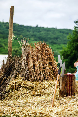 dispatch: Axe and scaffold on medieval festival, Alsace, France