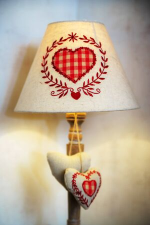 tranquillity: Old-style home lamp with classical alsacien decor